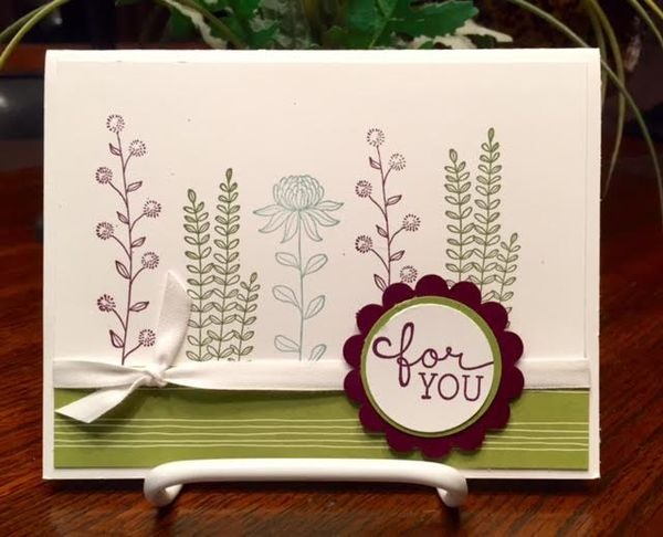 Stamping With Tamie: Flowering Fields By Stampin UP